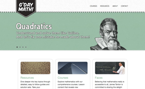 Resource of the Week: G'Day Math