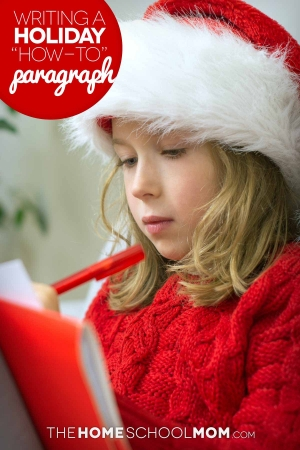 Holiday Paragraph Writing: Describe a Holiday-Themed Process