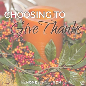Choosing to give thanks