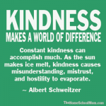 Kindness Makes a World of Difference