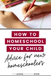 Child drawing with text How To Homeschool Your Child? Advice for New Homeschoolers