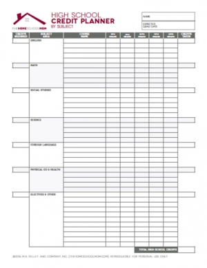 Printable Homeschool Household Planner Pages