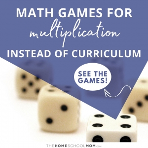 Dice with text Math games for multiplication instead of curriculum - see the games!