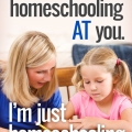 TheHomeSchoolMom Blog: I'm not homeschooling AT you; I'm just homeschooling.