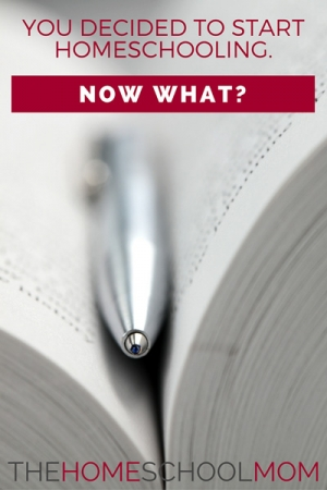 TheHomeSchoolMom Blog: You Started Homeschooling. Now What?