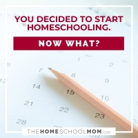 You Decided to Start Homeschooling. Now What?