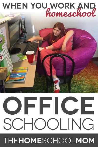 "TheHomeSchoolMom Blog: Work and homeschooling can include ""office schooling"""