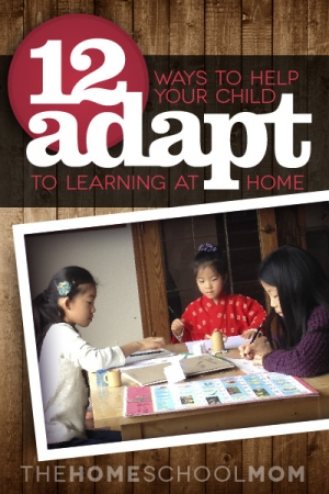 TheHomeSchoolMom Blog: 12 Ways to Help You Child Adapt to Homeschooling