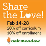 Oak Meadow: Save in February