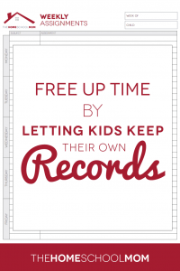 Let Your Children Keep Their Own Homeschool Records