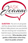 Ask Jeanne: Who decides what grade a child is in?