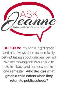 "Ask Jeanne: ""Does school decide what grade?"""