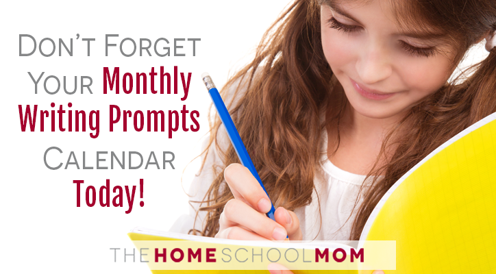 Monthly Writing Prompts for Homeschoolers