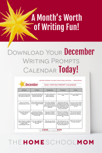 December Writing Prompt Calendar