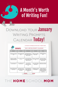 January Writing Prompt Calendar