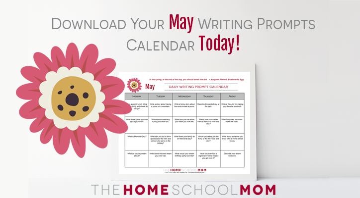 May writing prompt calendar
