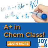 Joy Lab learning: A+ in Chemistry Class!