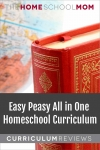 Globe and textbook with text Easy Peasy All in One Homeschool Curriculum