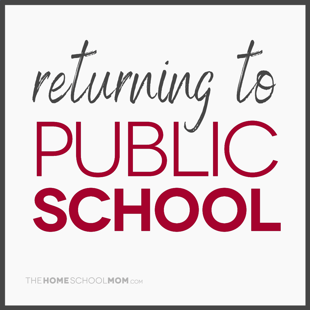 returning to public school