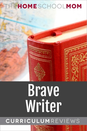 globe and book with text Brave Writer Curriculum Reviews - TheHomeSchoolMom.com