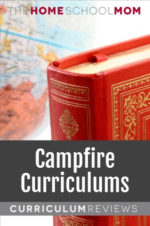 Globe and book with text Campfire Curriculums Curriculum Reviews - TheHomeSchoolMom.com