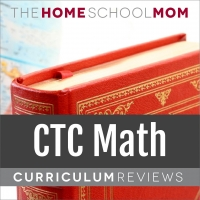 globe and book with text CTCMath Curriculum Reviews - TheHomeSchoolMom.com