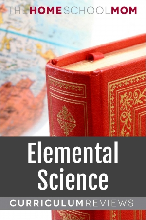 globe and book with text Elemental Science Curriculum Reviews - TheHomeSchoolMom.com