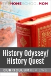 globe and book with text History Quest/History Odyssey Curriculum Reviews - TheHomeSchoolMom.com