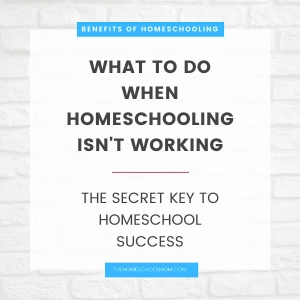 Benefits of homeschooling: What to do when homeschooling isn't working (the secret key to homeschool success) - TheHomeSchoolMom.com