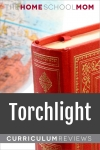 globe and book with text Torchlight Curriculum Reviews - TheHomeSchoolMom.com