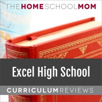 Globe and book; text Excel Online High School Curriculum Reviews