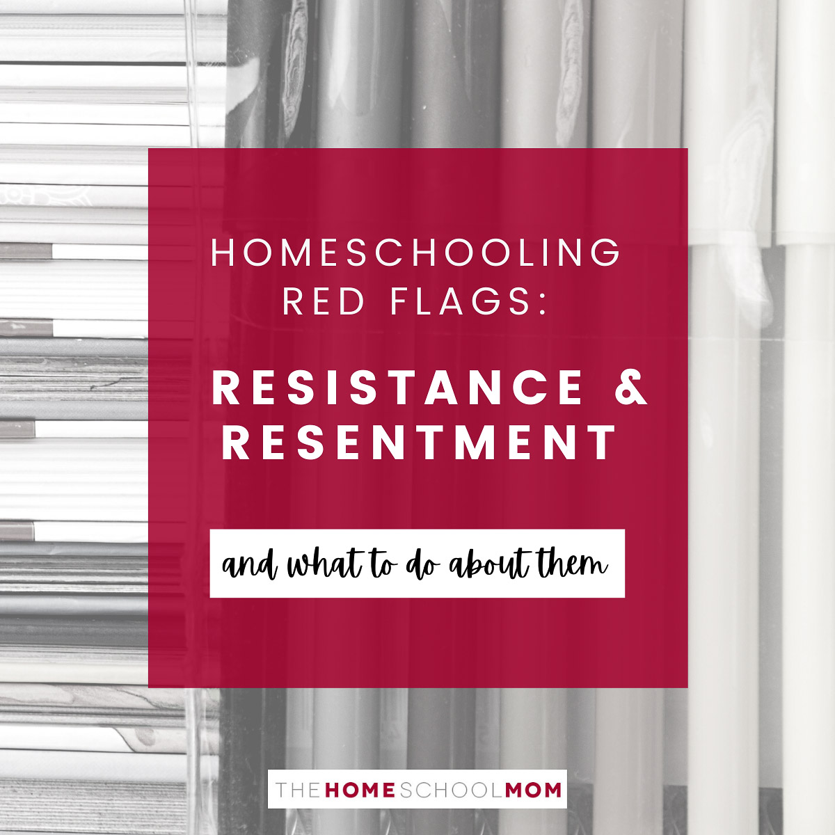 Homeschooling red flags: Resistance & Resentment and what to do about them
