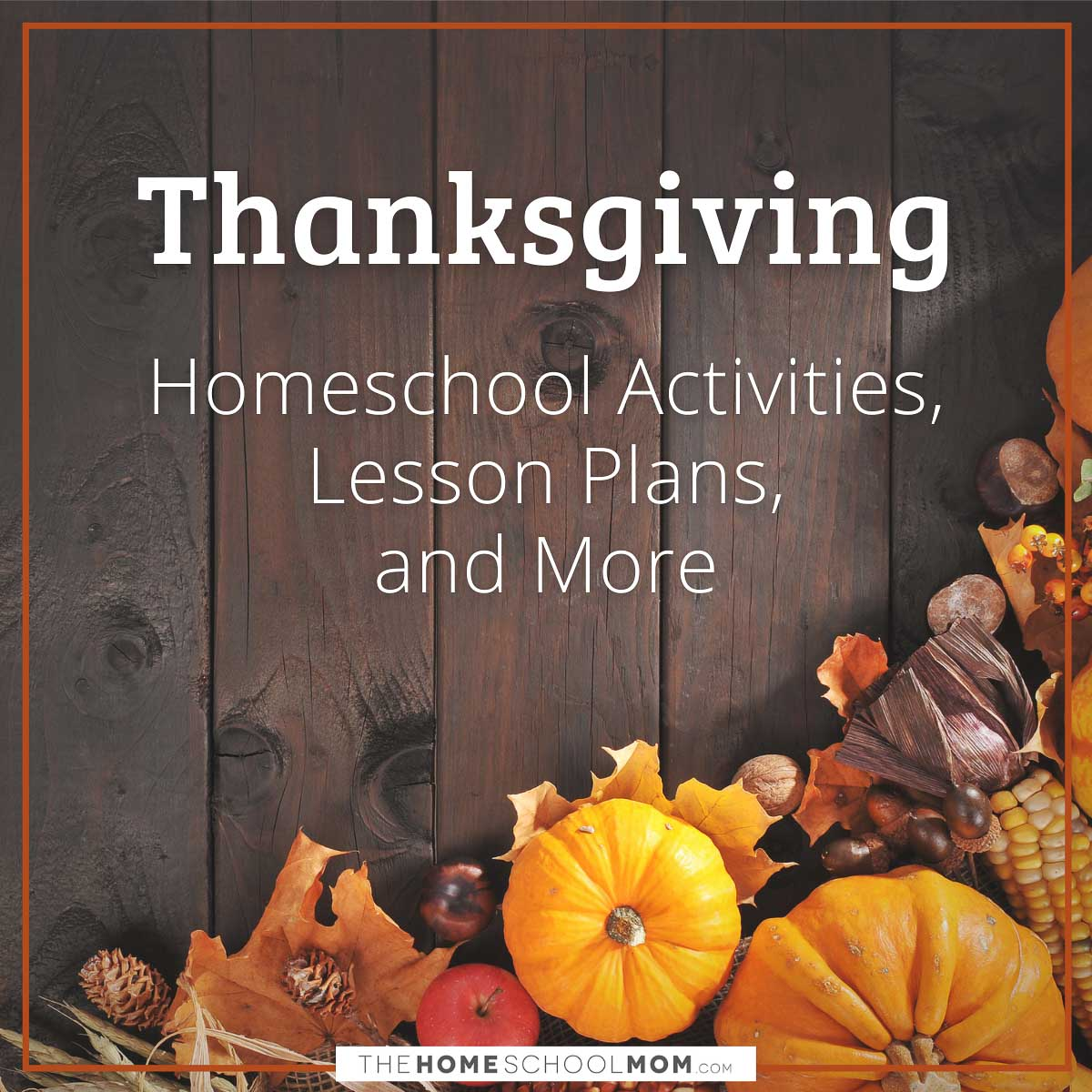thanksgiving homeschool activities, lesson plans, and more - thehomeschoolmom.com
