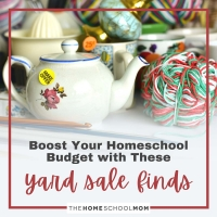 Boost Your Homeschool Budget With These Common Yard Sale Finds