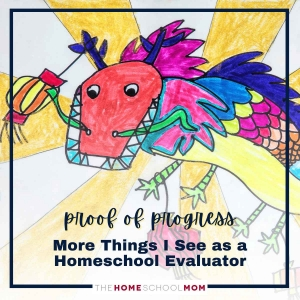 Proof of Progress - More things I see as a homeschool evaluator