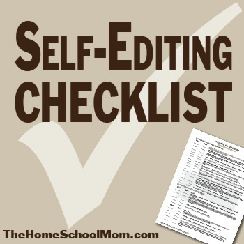 TheHomeSchoolMom: Self-Editing Checklist