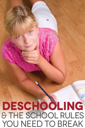 TheHomeSchoolMom Blog: Deschooling - The School Rules You Need to Break