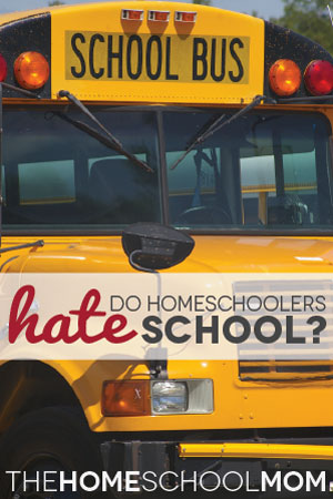 TheHomeSchoolMom Blog: Do Homeschoolers Hate Public Schools?