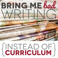 Instead of Curriculum: Bring Me Bad Writing