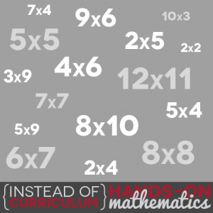 Instead of Curriculum: Hands-on Math for Learning Multiplication