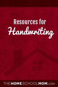 Homeschool resources about handwriting