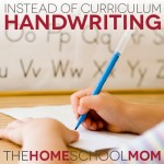 Instead of Curriculum: Handwriting Practice