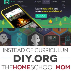 Instead of Homeschool Curriculum: DIY.org
