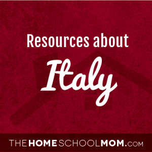 Homeschool resources about Italy