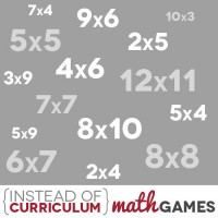 Instead of Curriculum: Math Games (Fun Multiplication Practice!)