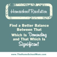 Homeschool Resolutions