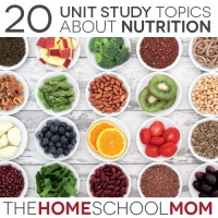 20 Topics for a Nutrition Unit Study