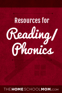 Homeschool resources for reading/phonics