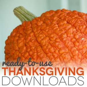 Ready to Use Thanksgiving Downloads - Pumpkin background