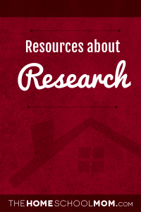Homeschool resources about research